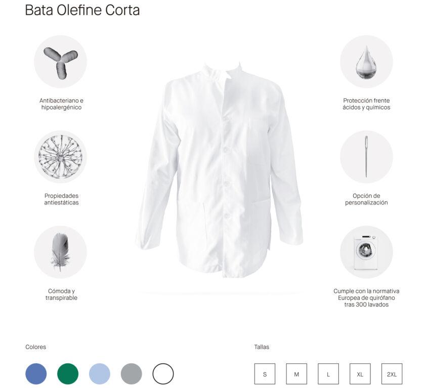 BATA CORTA OLEFINE